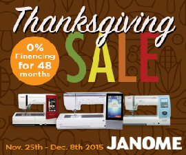 Thanksgiving Black Friday Janome Financing